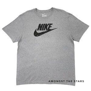 Nike Black White Speckle Cement Grey Men's T-Shirt